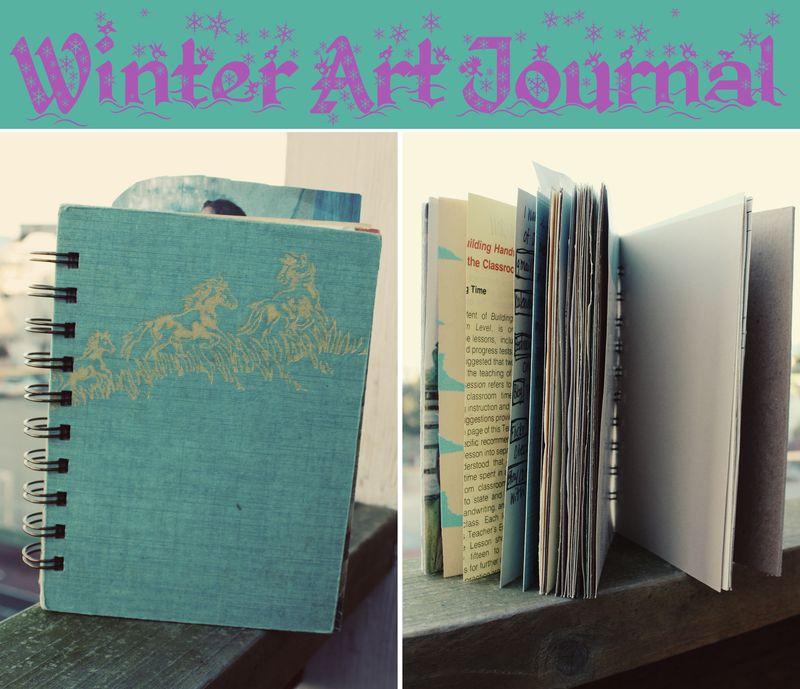Winter art journal begin